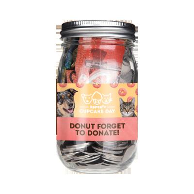 Donation Jar-Tin Wrap